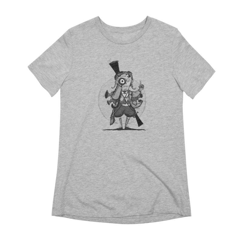Steampunk Explorer Women's Extra Soft T-Shirt by rimadi's Artist Shop