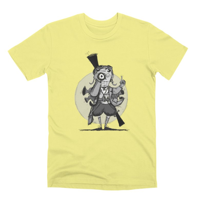 Steampunk Explorer Men's Premium T-Shirt by rimadi's Artist Shop