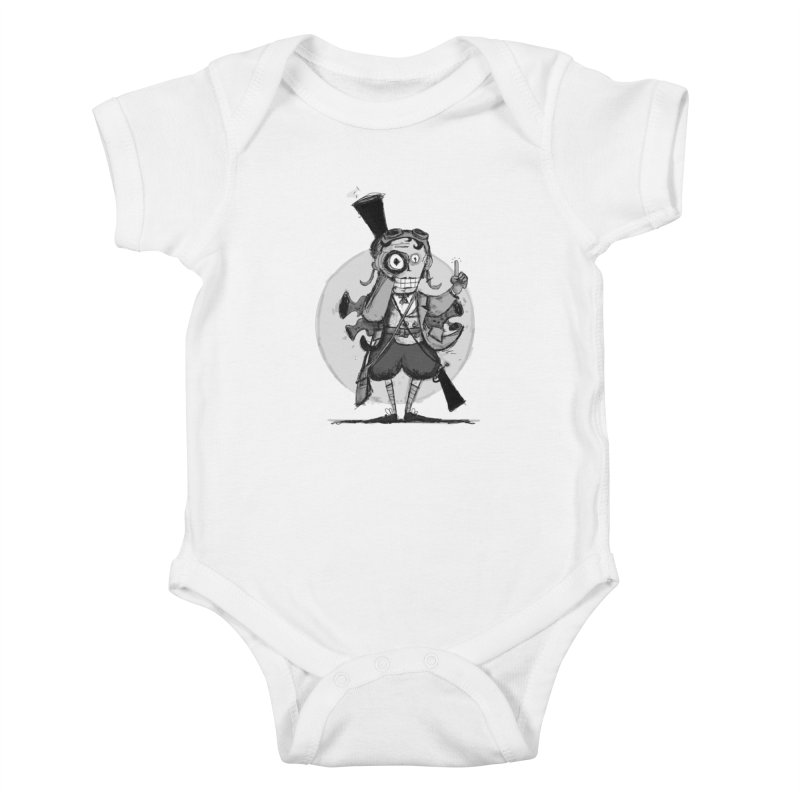 Steampunk Explorer Kids Baby Bodysuit by rimadi's Artist Shop