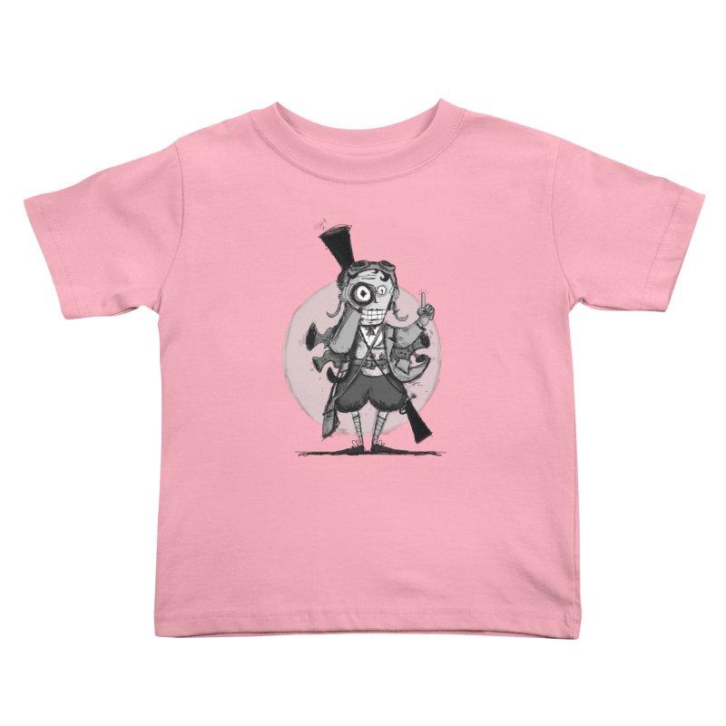 Steampunk Explorer Kids Toddler T-Shirt by rimadi's Artist Shop