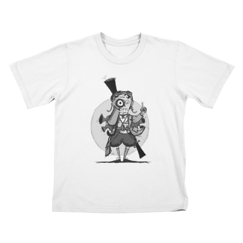 Steampunk Explorer Kids T-Shirt by rimadi's Artist Shop