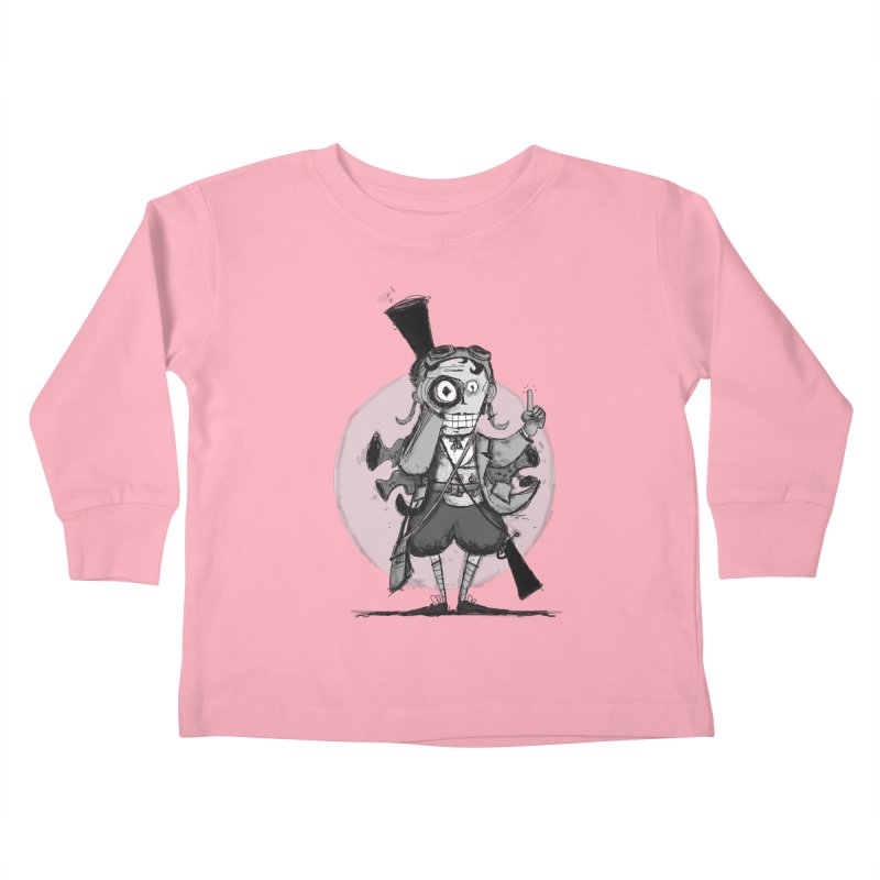 Steampunk Explorer Kids Toddler Longsleeve T-Shirt by rimadi's Artist Shop