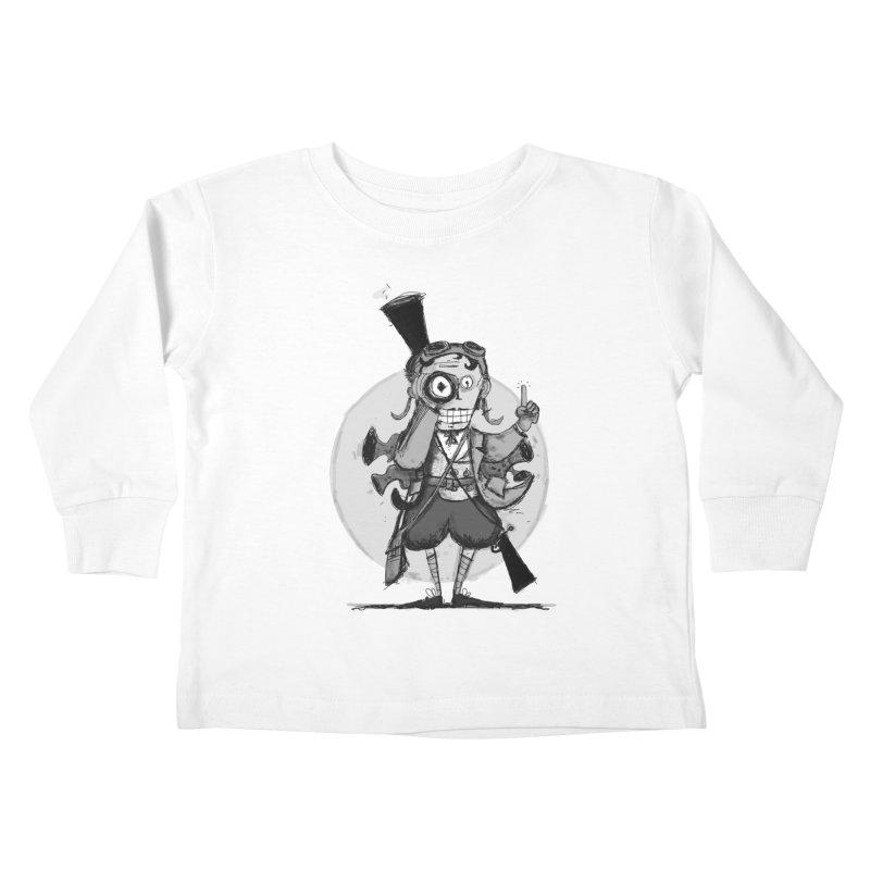 Steampunk Explorer Kids Toddler Longsleeve T-Shirt by rimadi's Artist Shop