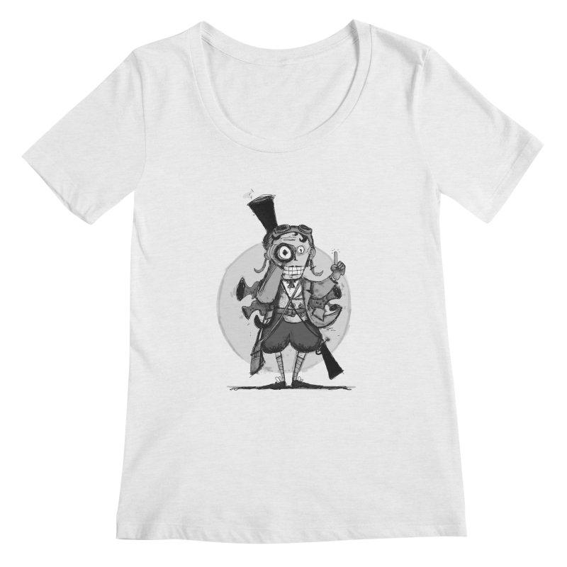 Steampunk Explorer Women's Regular Scoop Neck by rimadi's Artist Shop