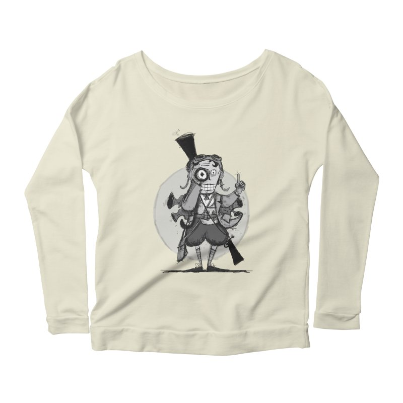 Steampunk Explorer Women's Scoop Neck Longsleeve T-Shirt by rimadi's Artist Shop