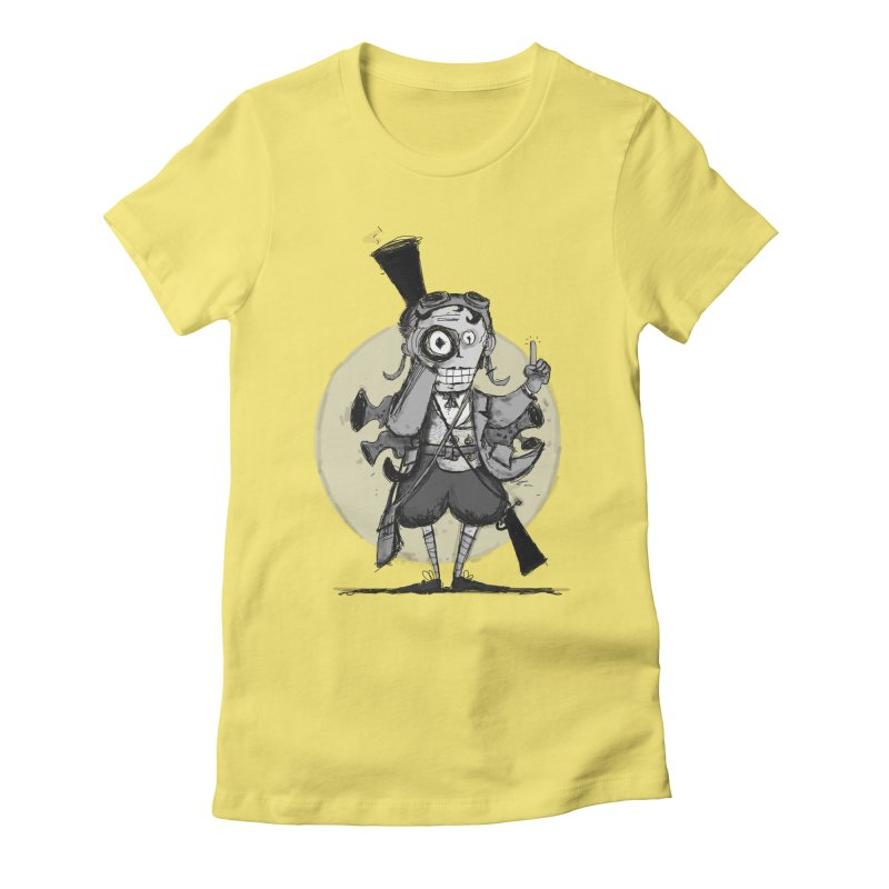 Steampunk Explorer Women's Fitted T-Shirt by rimadi's Artist Shop