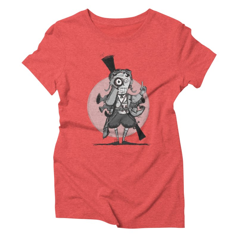 Steampunk Explorer Women's Triblend T-Shirt by rimadi's Artist Shop