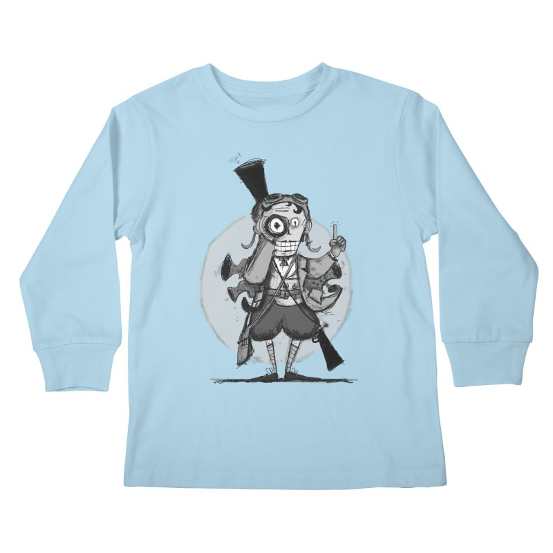 Steampunk Explorer Kids Longsleeve T-Shirt by rimadi's Artist Shop