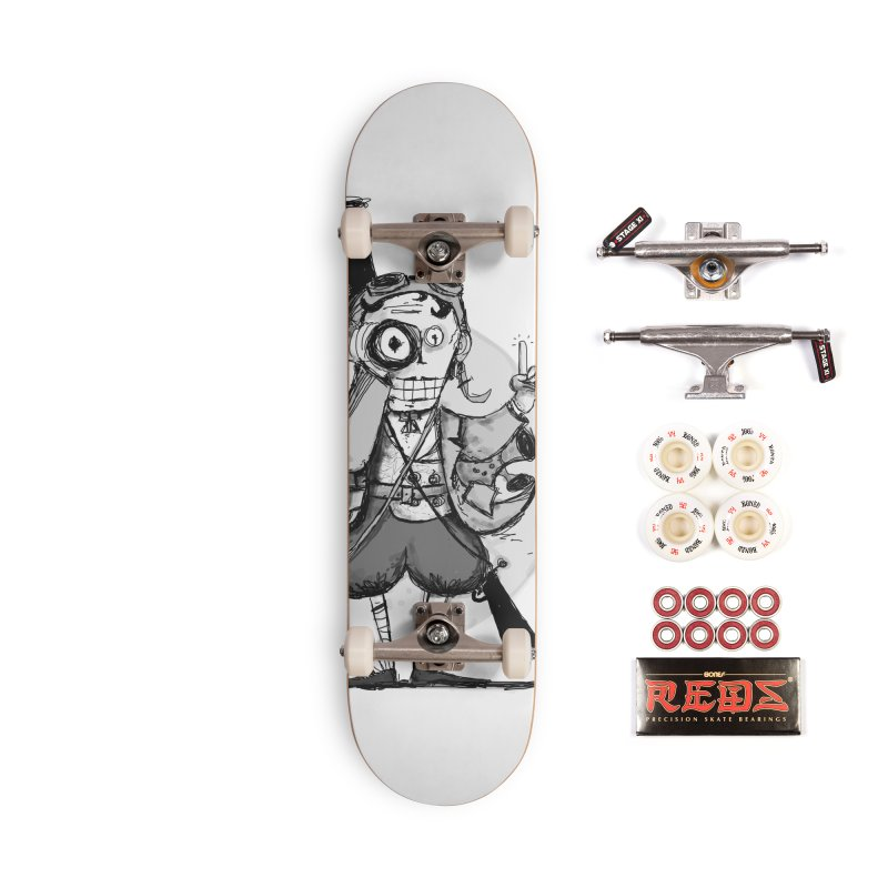Steampunk Explorer Accessories Complete - Pro Skateboard by rimadi's Artist Shop