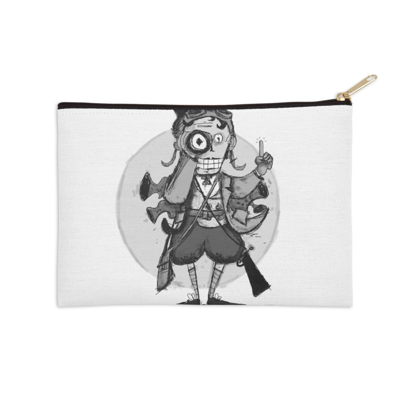 Steampunk Explorer Accessories Zip Pouch by rimadi's Artist Shop