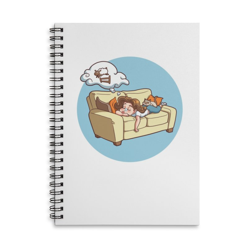 Sunday...Sunoozeday Accessories Lined Spiral Notebook by Rina Rozsas's Artist Shop