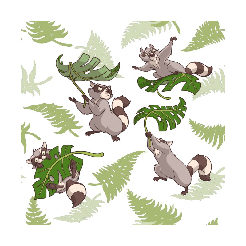 Leave It To Raccoons by Rina Rozsas's Artist Shop