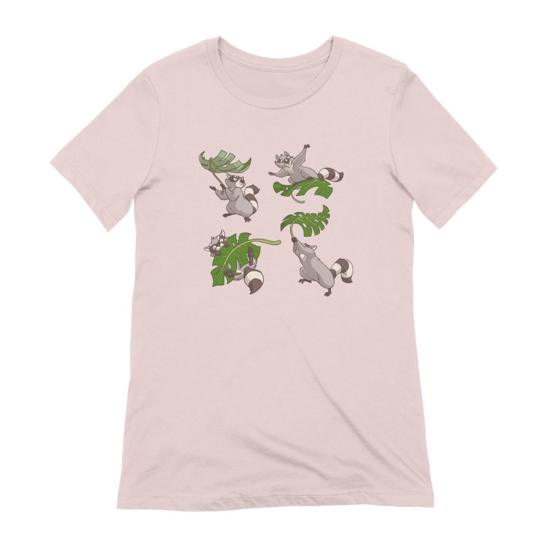 Leave It To Raccoons Women's Extra Soft T-Shirt by Rina Rozsas's Artist Shop