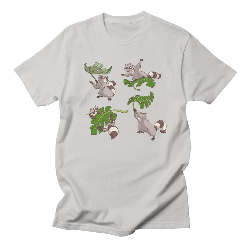 Leave It To Raccoons Men's Regular T-Shirt by Rina Rozsas's Artist Shop