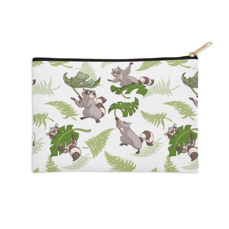 Leave It To Raccoons Accessories Zip Pouch by Rina Rozsas's Artist Shop