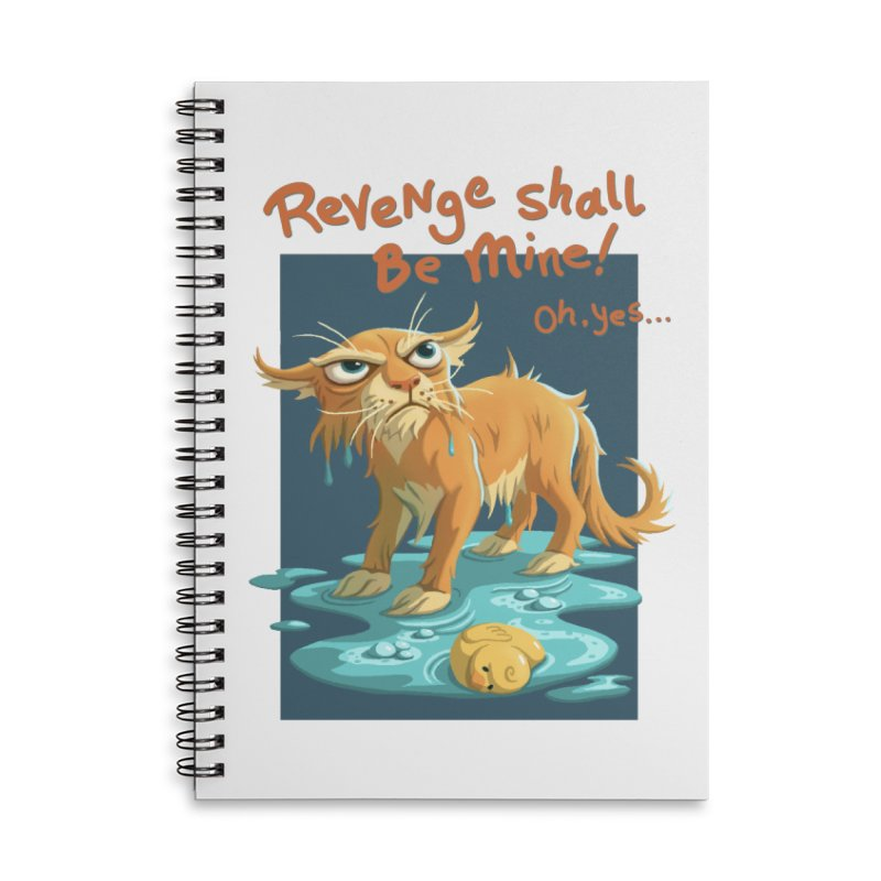 Oh Yes... Accessories Lined Spiral Notebook by Rina Rozsas's Artist Shop