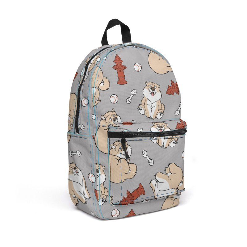 Gordon the Chow Chow Accessories Backpack Bag by Rina Rozsas's Artist Shop