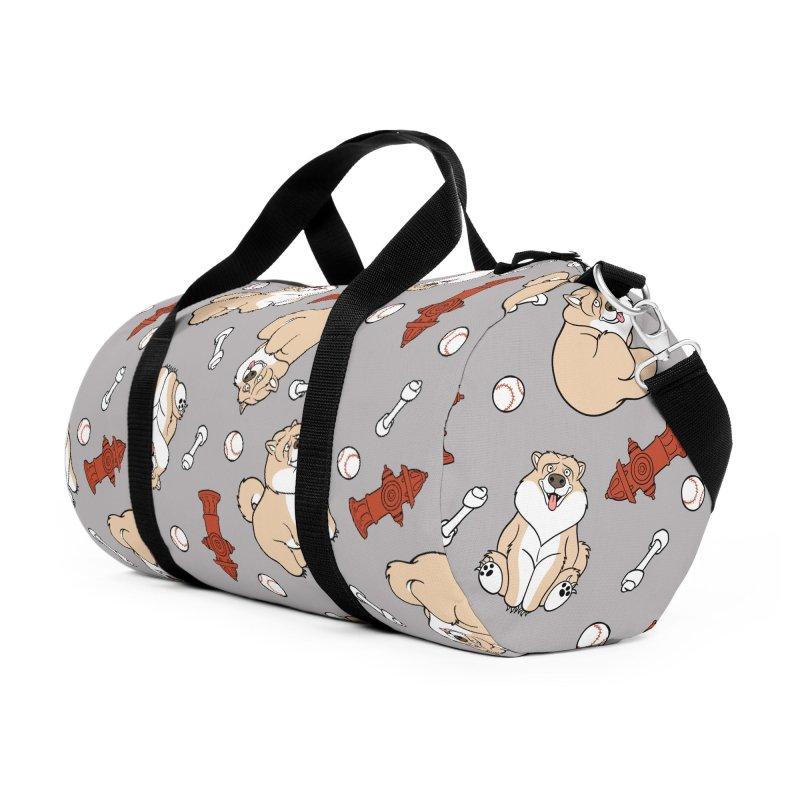Gordon the Chow Chow Accessories Duffel Bag Bag by Rina Rozsas's Artist Shop