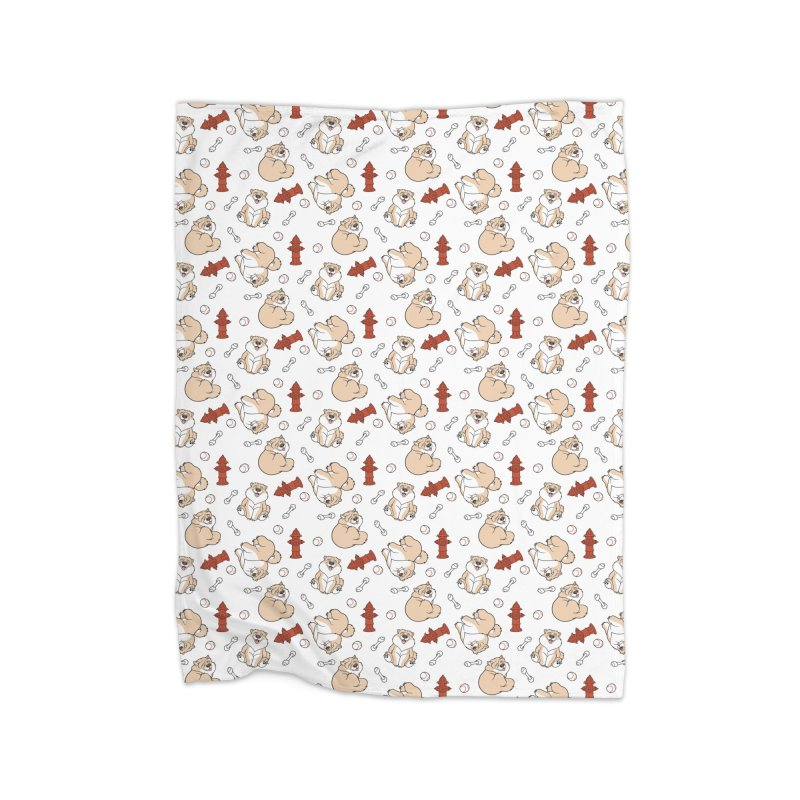 Gordon the Chow Chow Home Fleece Blanket Blanket by Rina Rozsas's Artist Shop
