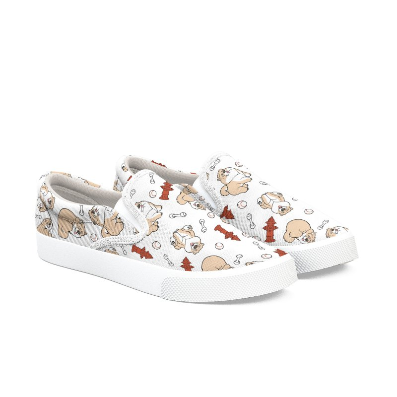 Gordon the Chow Chow Women's Slip-On Shoes by Rina Rozsas's Artist Shop