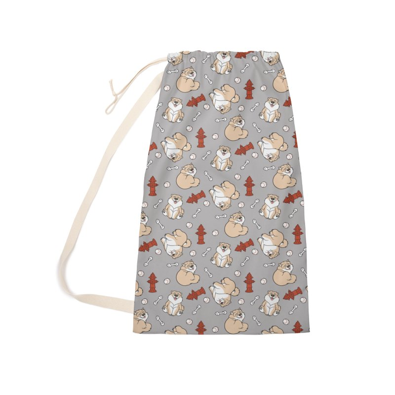 Gordon the Chow Chow Accessories Laundry Bag Bag by Rina Rozsas's Artist Shop