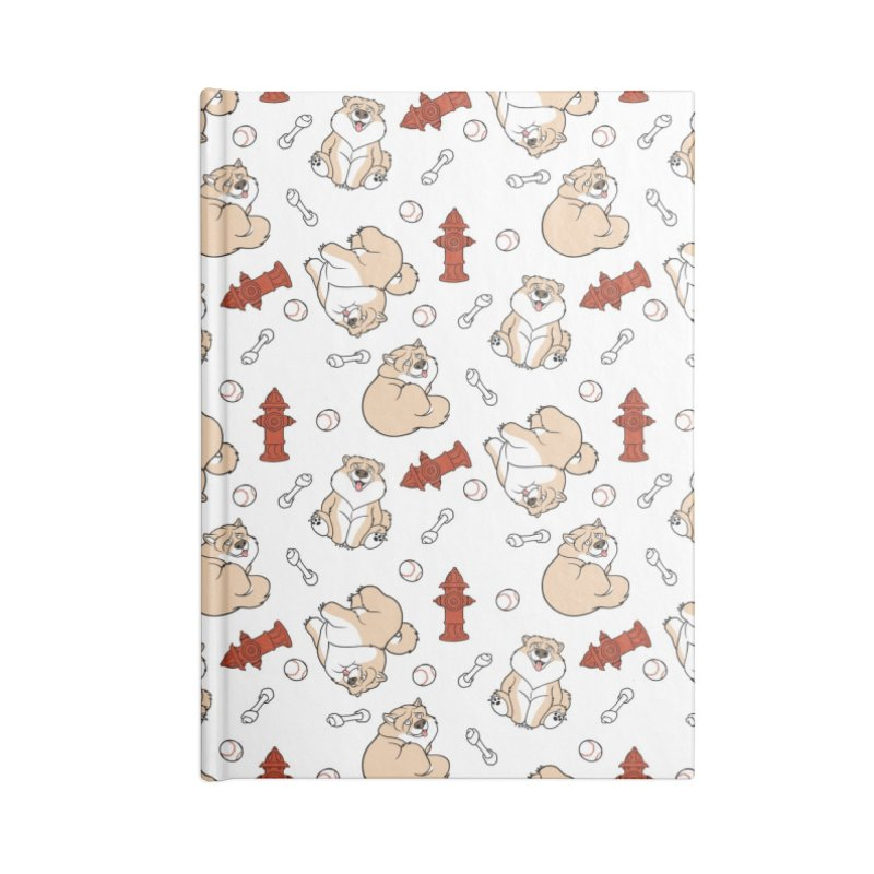 Gordon the Chow Chow Accessories Blank Journal Notebook by Rina Rozsas's Artist Shop
