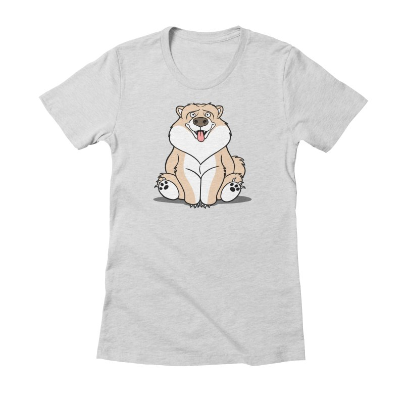 Gordon the Chow Chow Women's Fitted T-Shirt by Rina Rozsas's Artist Shop