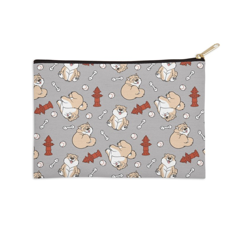 Gordon the Chow Chow Accessories Zip Pouch by Rina Rozsas's Artist Shop