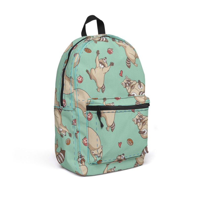 Raccoons Love Accessories Backpack Bag by Rina Rozsas's Artist Shop