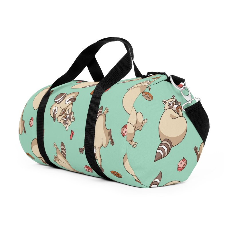 Raccoons Love Accessories Bag by Rina Rozsas's Artist Shop