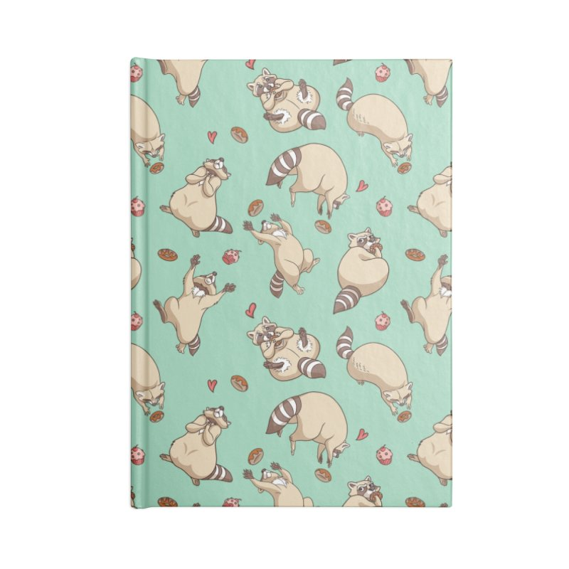 Raccoons Love Accessories Lined Journal Notebook by Rina Rozsas's Artist Shop