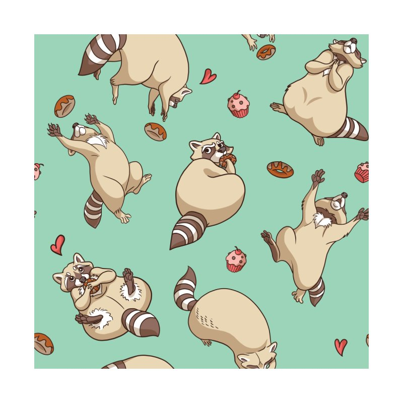 Raccoons Love   by Rina Rozsas's Artist Shop