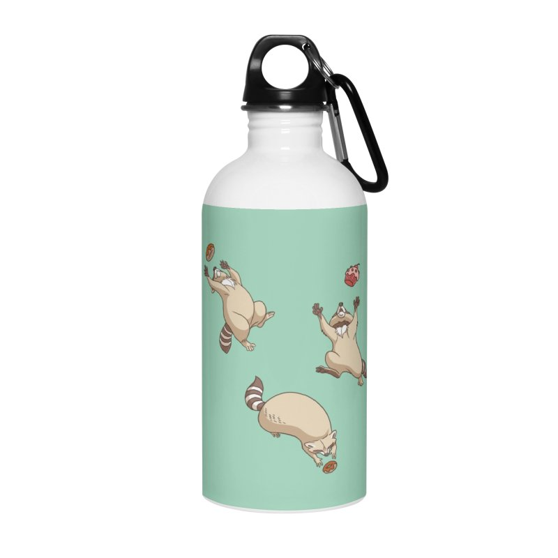 Raccoons Love Accessories Water Bottle by Rina Rozsas's Artist Shop