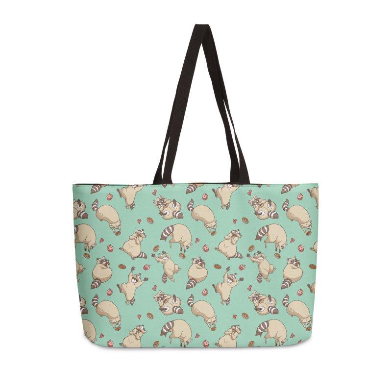 Raccoons Love Accessories Weekender Bag Bag by Rina Rozsas's Artist Shop