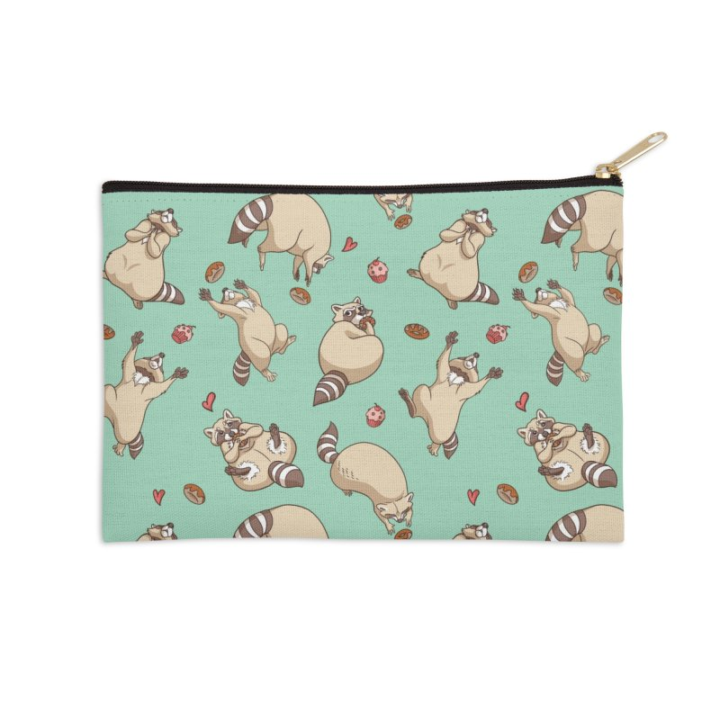 Raccoons Love Accessories Zip Pouch by Rina Rozsas's Artist Shop