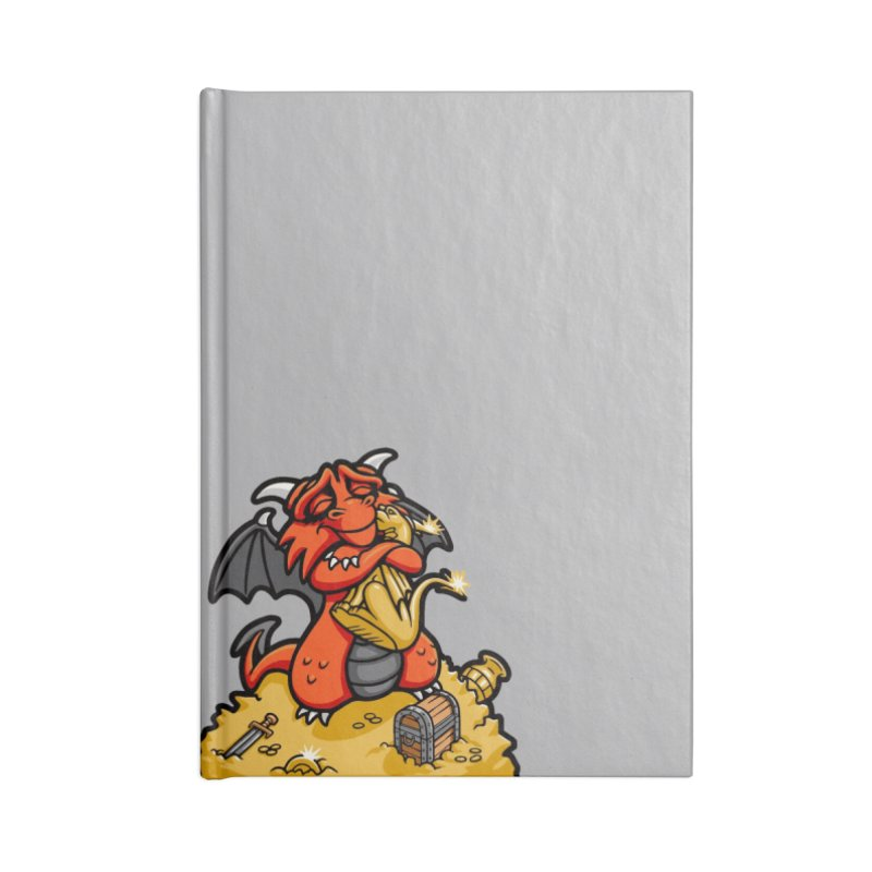 Dmitri the Dragon Loves Accessories Blank Journal Notebook by Rina Rozsas's Artist Shop