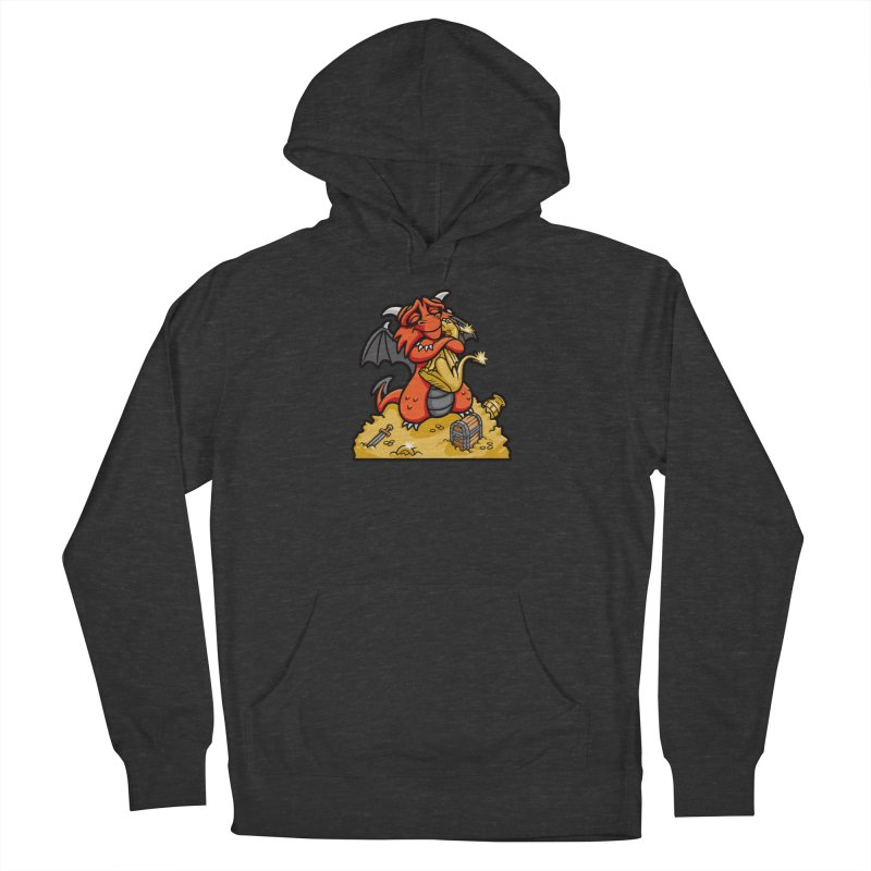 Dmitri the Dragon Loves Men's French Terry Pullover Hoody by Rina Rozsas's Artist Shop