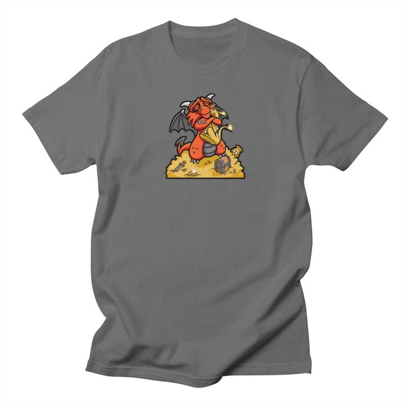 Dmitri the Dragon Loves Men's Regular T-Shirt by Rina Rozsas's Artist Shop