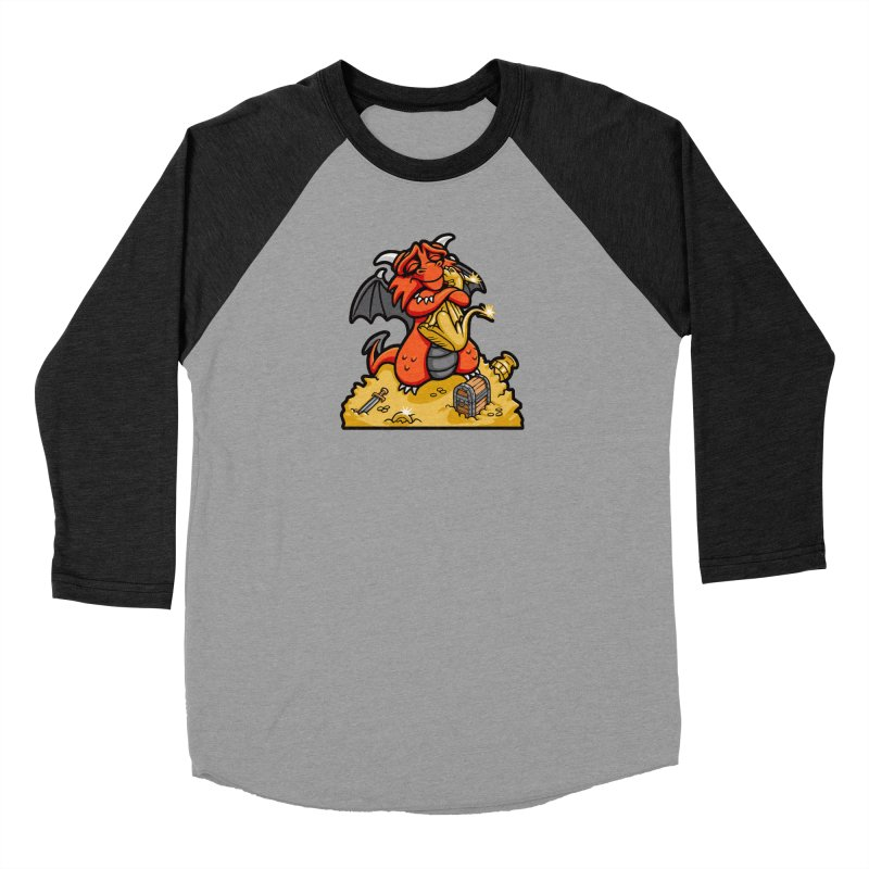 Dmitri the Dragon Loves Men's Baseball Triblend Longsleeve T-Shirt by Rina Rozsas's Artist Shop
