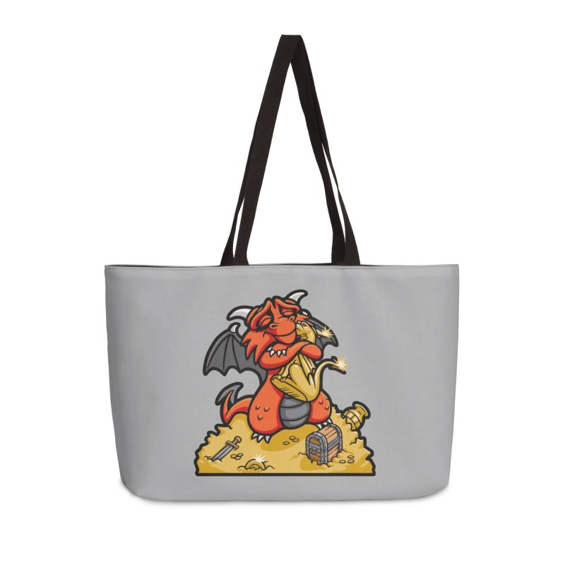 Dmitri the Dragon Loves Accessories Weekender Bag Bag by Rina Rozsas's Artist Shop