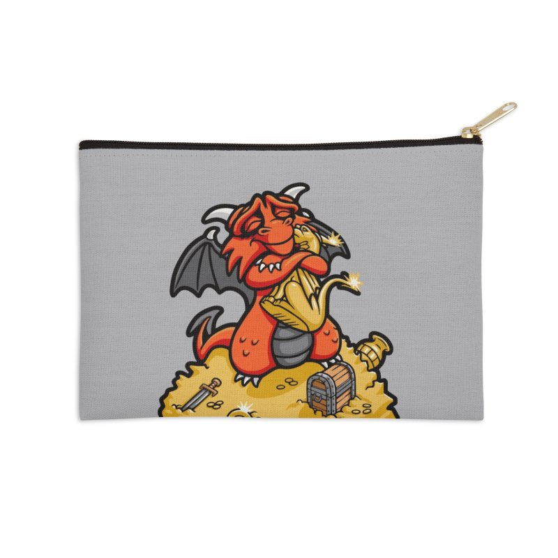 Dmitri the Dragon Loves Accessories Zip Pouch by Rina Rozsas's Artist Shop