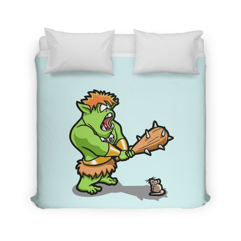 Ollie the Cyclops Finds His Nemesis Home Duvet by Rina Rozsas's Artist Shop