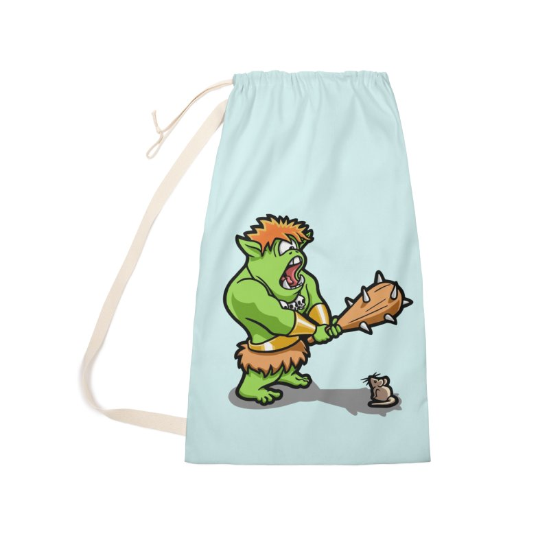 Ollie the Cyclops Finds His Nemesis Accessories Laundry Bag Bag by Rina Rozsas's Artist Shop