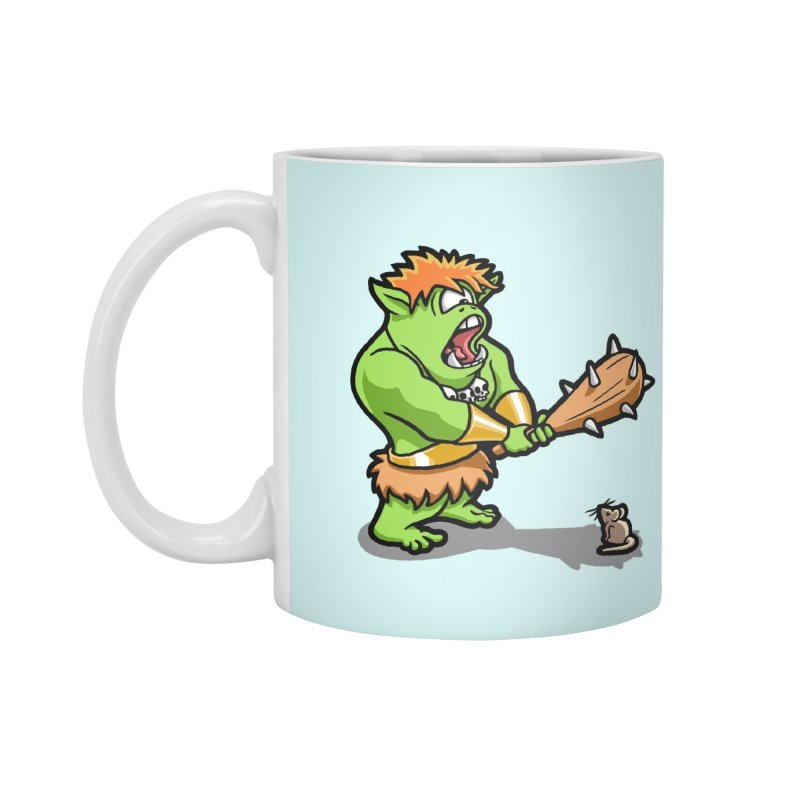 Ollie the Cyclops Finds His Nemesis Accessories Standard Mug by Rina Rozsas's Artist Shop