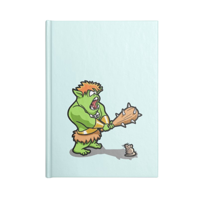 Ollie the Cyclops Finds His Nemesis Accessories Lined Journal Notebook by Rina Rozsas's Artist Shop