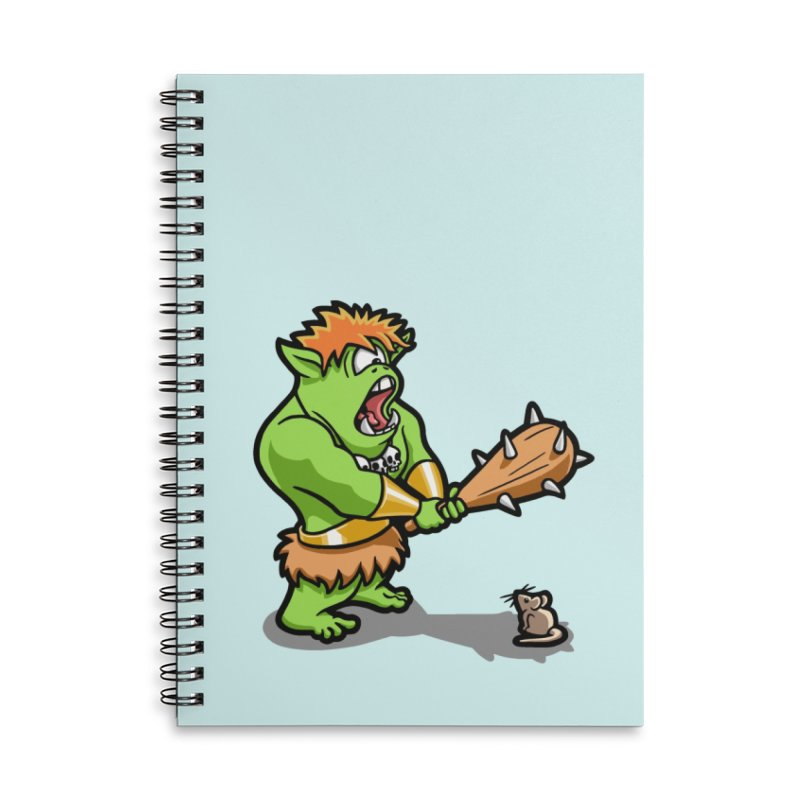 Ollie the Cyclops Finds His Nemesis Accessories Lined Spiral Notebook by Rina Rozsas's Artist Shop