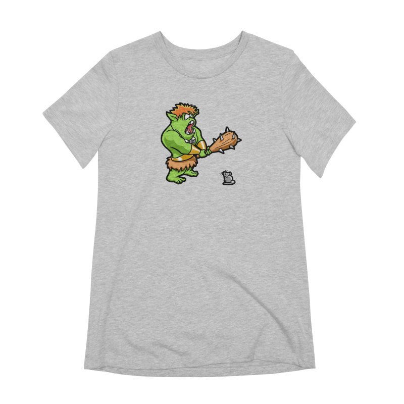 Ollie the Cyclops Finds His Nemesis Women's Extra Soft T-Shirt by Rina Rozsas's Artist Shop