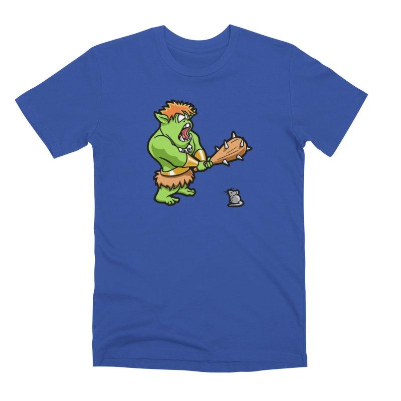 Ollie the Cyclops Finds His Nemesis Men's Premium T-Shirt by Rina Rozsas's Artist Shop
