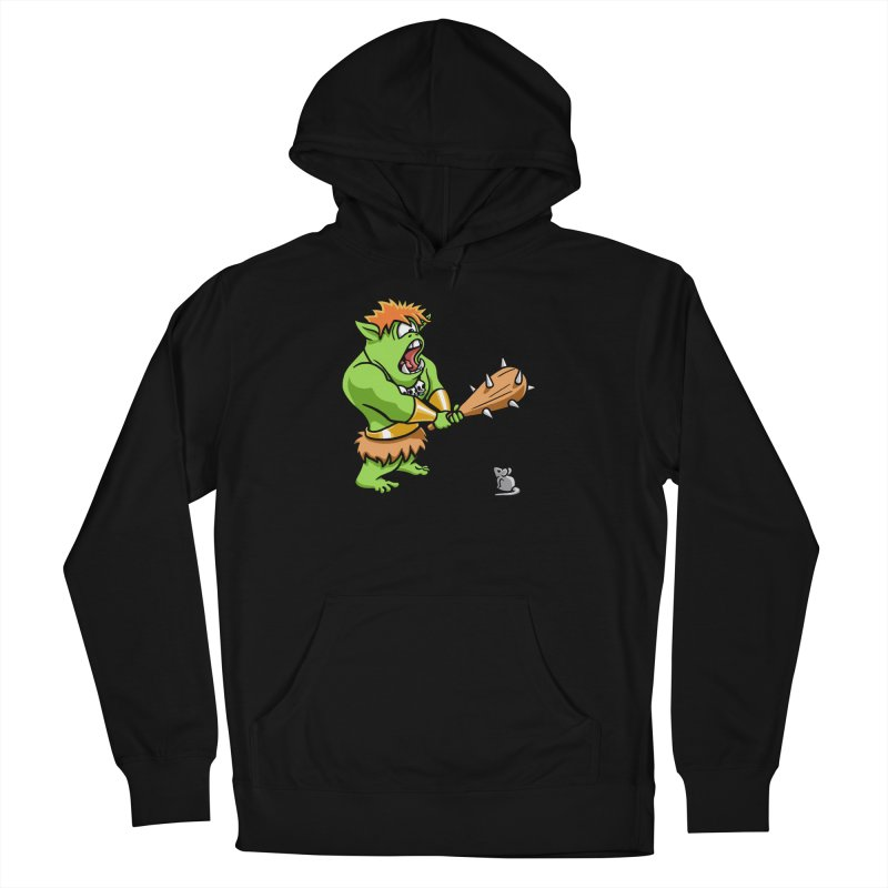 Ollie the Cyclops Finds His Nemesis Men's French Terry Pullover Hoody by Rina Rozsas's Artist Shop