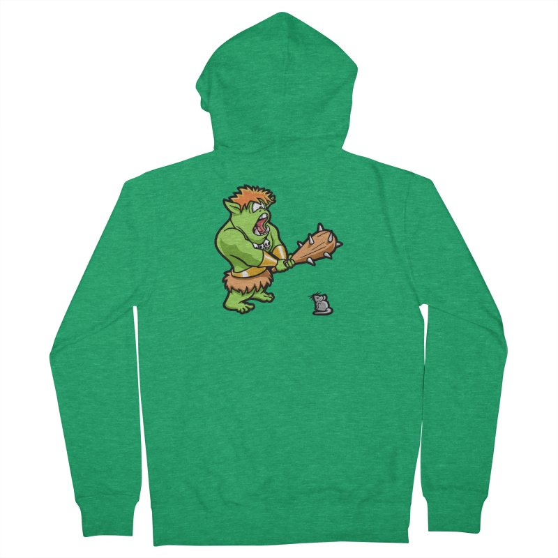 Ollie the Cyclops Finds His Nemesis Women's French Terry Zip-Up Hoody by Rina Rozsas's Artist Shop